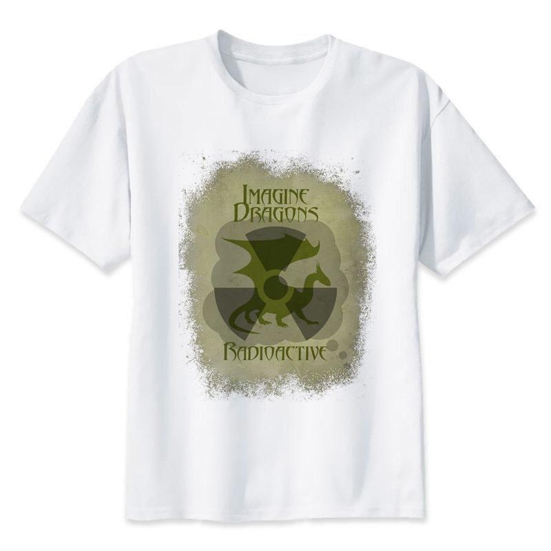 3d printed radioactive imagine dragons white men t shirt crazy shirt