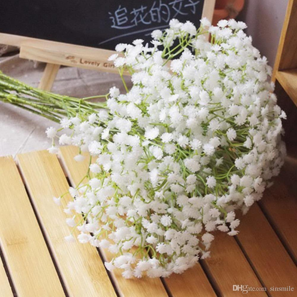 Online cheap wholesale white baby breath artificial flowers for online cheap wholesale white baby breath artificial flowers for wedding decoration event party supplies high quality decorative flowers wreaths by sinsmile izmirmasajfo