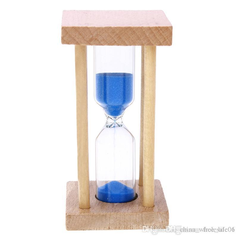 2018 5 Minutes Wood Frame Glass Hourglass Sand Timer Kids Toy Gifts ...