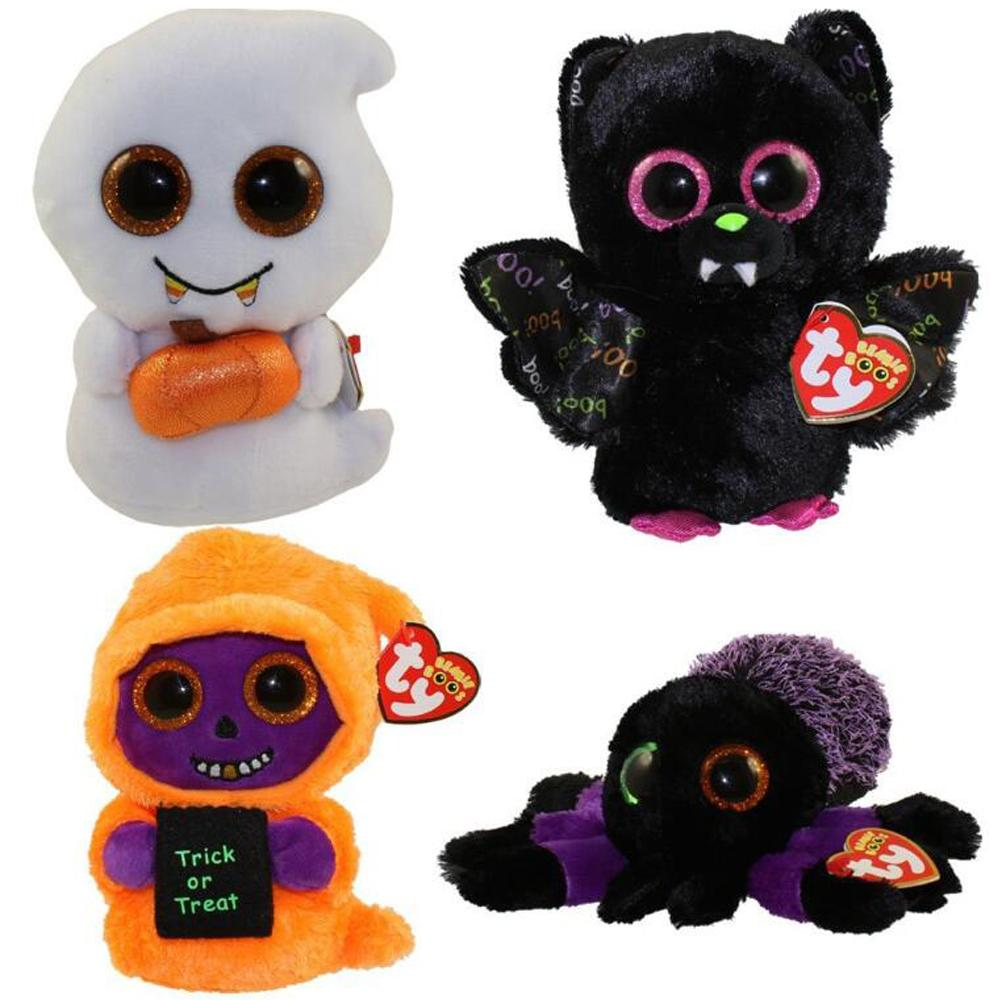 Pyoopeo Ty Beanie Boos 6 15cm 2017 Halloween Collection Creeper Dart ... 96f50496fc6