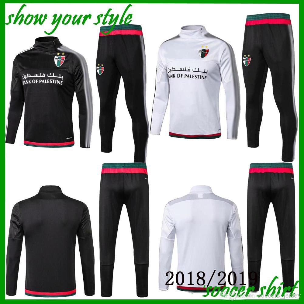 2d72b7660aa58 Acheter 2018/2019 Palestino Football Survêtements Kits Palestine Football  Survetement Chandal Top Qualité Palestine Football Costume De $29.59 Du ...
