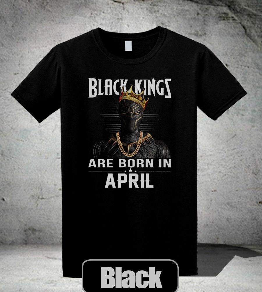 a1a608d6 Black Kings Are Born In April T Shirt Black Panther Wakanda Black&White  Shirt Tourist Shirt Fun Tee From Foryouboutique, $11.01| DHgate.Com