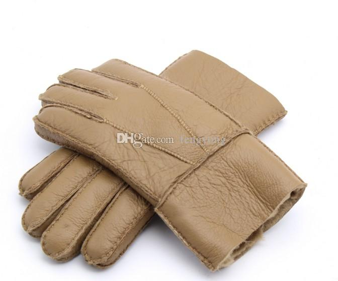 2018 neue winter neue männer pelzhandschuhe warme handschuhe lederhandschuhe hochwertige versandkostenfrei