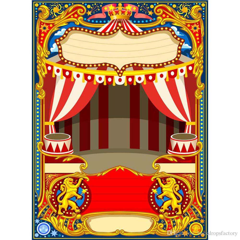 2019 Customized Circus Stage Photo Booth Backdrop Printed Stars Dots