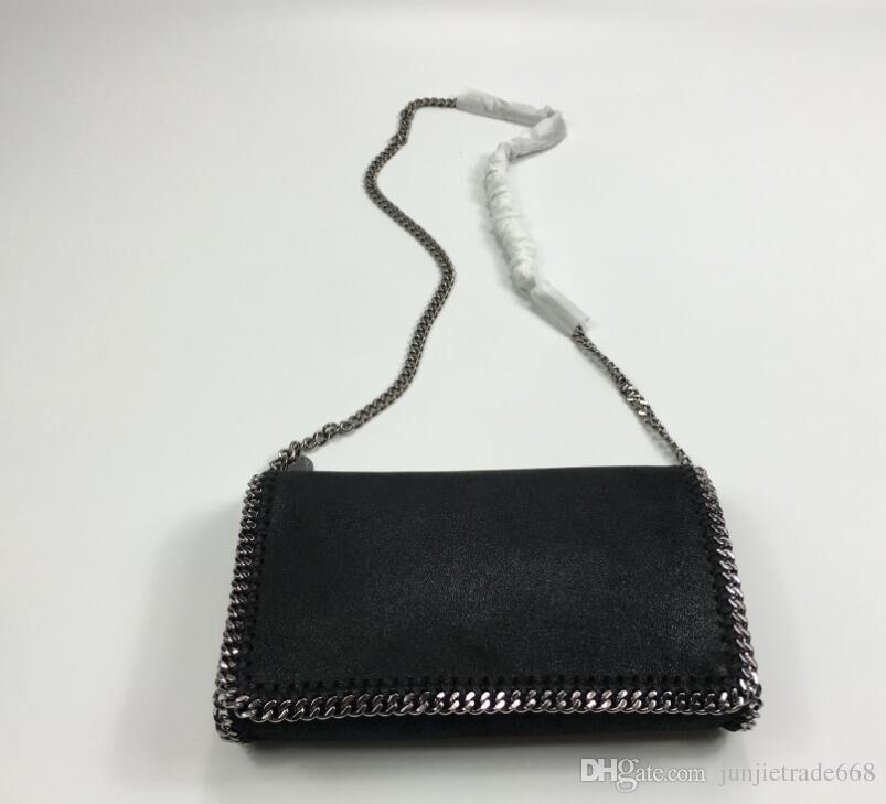2018 Real picture shoulder diagonal Mccartney chain bag high quality ST original material pvc clutch fashion cross body bag