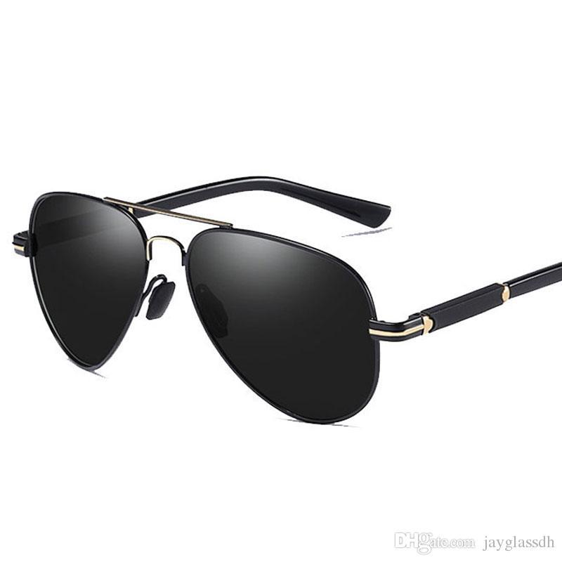 8ff059fb90 Compre Gafas De Sol Polarizadas Hombres Diseñador De La Marca Piloto  Masculino Gafas De Sol Para Conducir Gafas De Recubrimiento De Lentes De La  Vendimia ...
