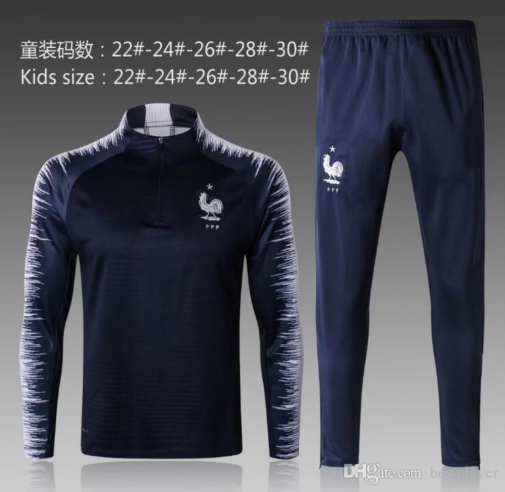 258d087ed Compre Aaa Tailândia Griezmann Mbappe Pogba Kit De Camisas De ...