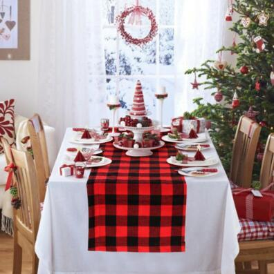 2018 33274cm buffalo check table runner plaid table runner for christmas decoration family dinners party table decoration cca10554 from