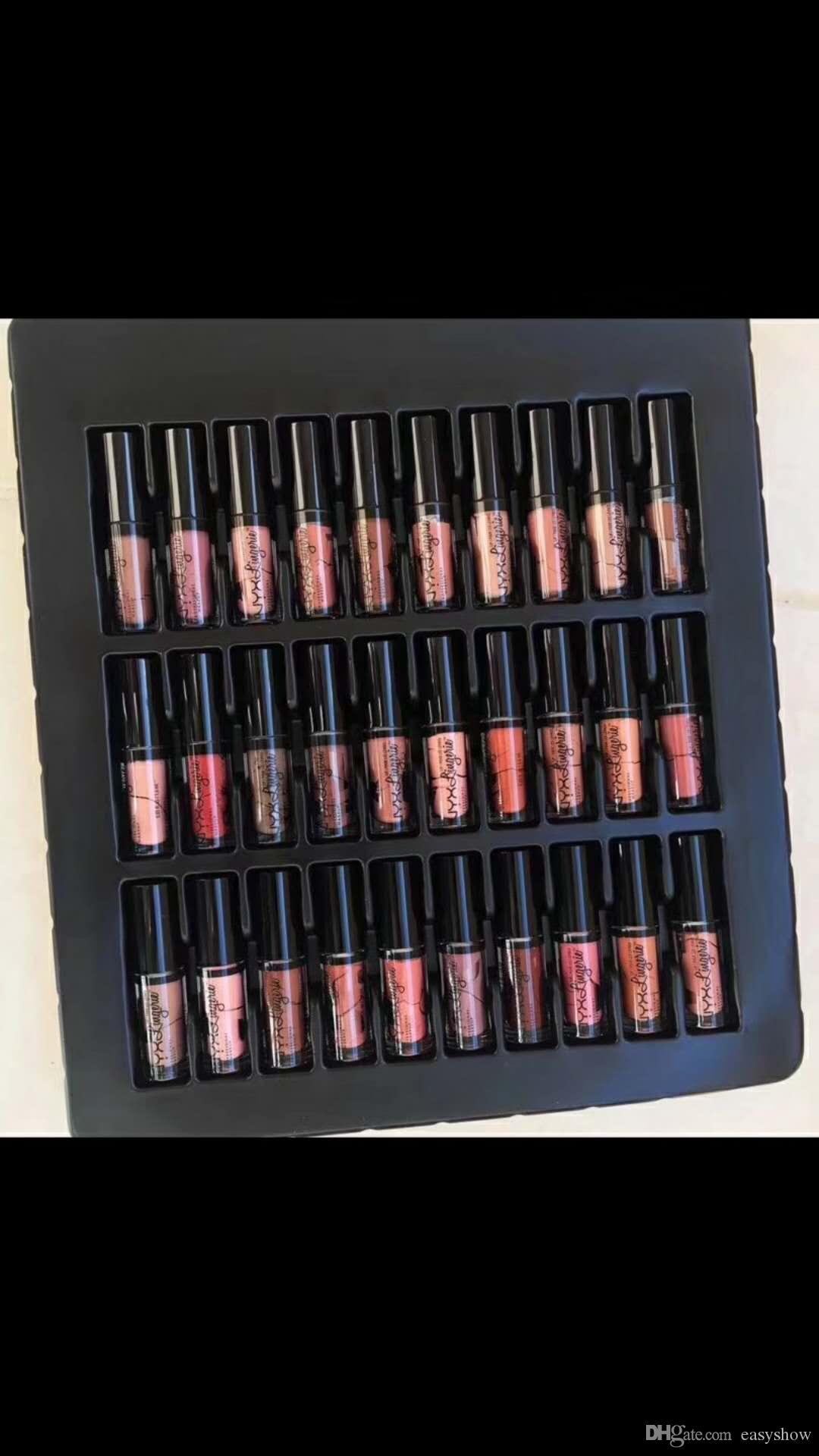 TOP NYX 36 pezzi Set Rossetto Soft Matte Lip Cream Vault Charme di lunga durata Quotidiano di marca Lucido Trucco Rossetto nyx Cosmetici DHL GRATUITO