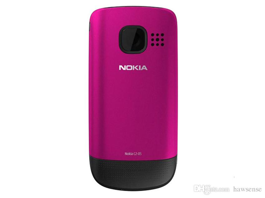 Refurbished Original Nokia C2-05 Slide Phone 2.0 inch Screen 0.3MP Camera FM Radio GSM 2G Cheap Cellphone Free Post