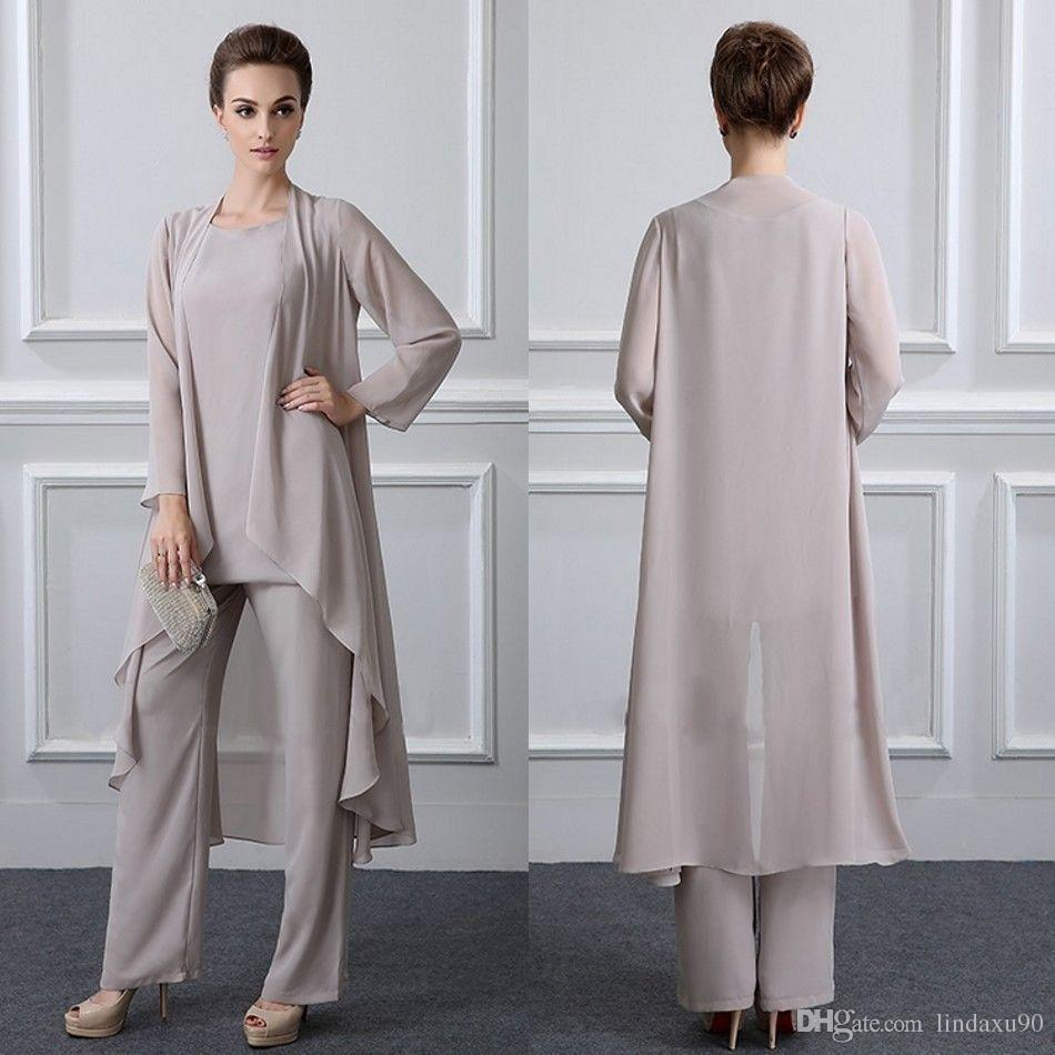 84d08b97e91 Mother Of The Bride Pants Suits Jackets Chiffon Long Sleeves Plus Size 2019  Custom Wedding Guest Dresses Purple Mother Of The Bride Dress Teal Mother  Of The ...