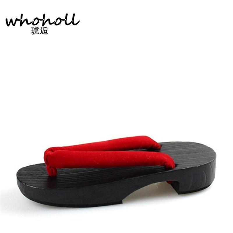 Madera Zuecos Mujer 2017 Chanclas Diseñador De Japonés Del Zapatos Verano Geta Zapatillas Sandalias Cosplay Flats rCxoBdeW