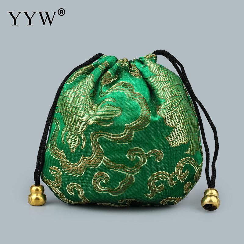 Gioielli di moda / dei sacchetti dei sacchetti di plastica raso ricamato Calabash gioielli Imballaggio Borse Wedding Bag regalo di Natale