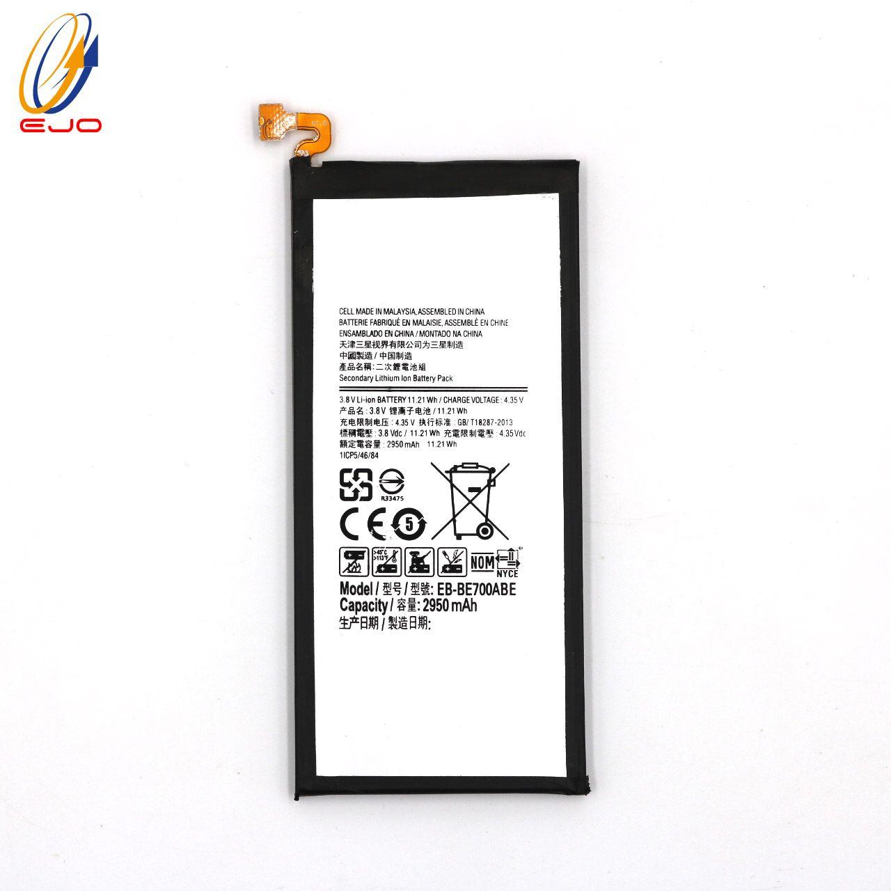 Samsung Galaxy için E7 Pil EB-BE700ABE 2950 mAh N920 Telefon batterie Samsung Galaxy E7 E700 Dahili Yedek Bateria Akku