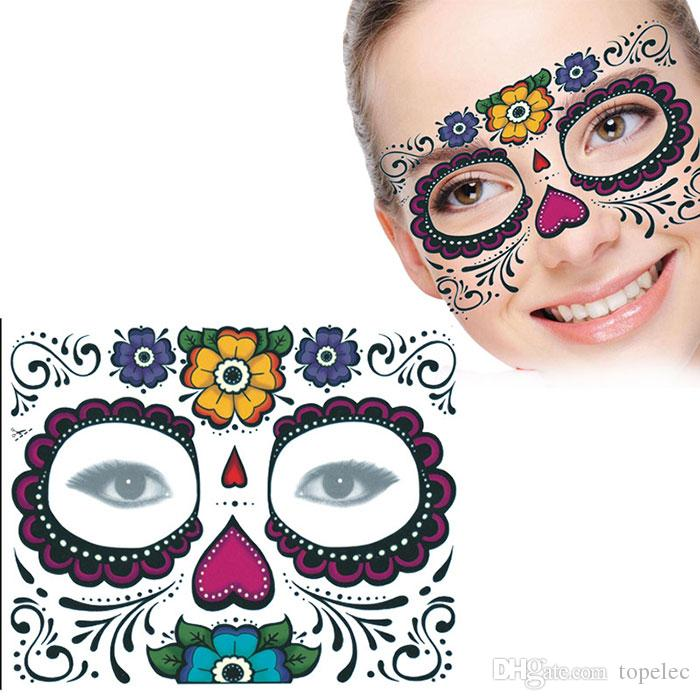 Wholesale Disposable Eyeshadow Sticker Magic Eye Face Lace Style Waterproof Temporary Tattoo For Beauty Makup Stage Halloween Party