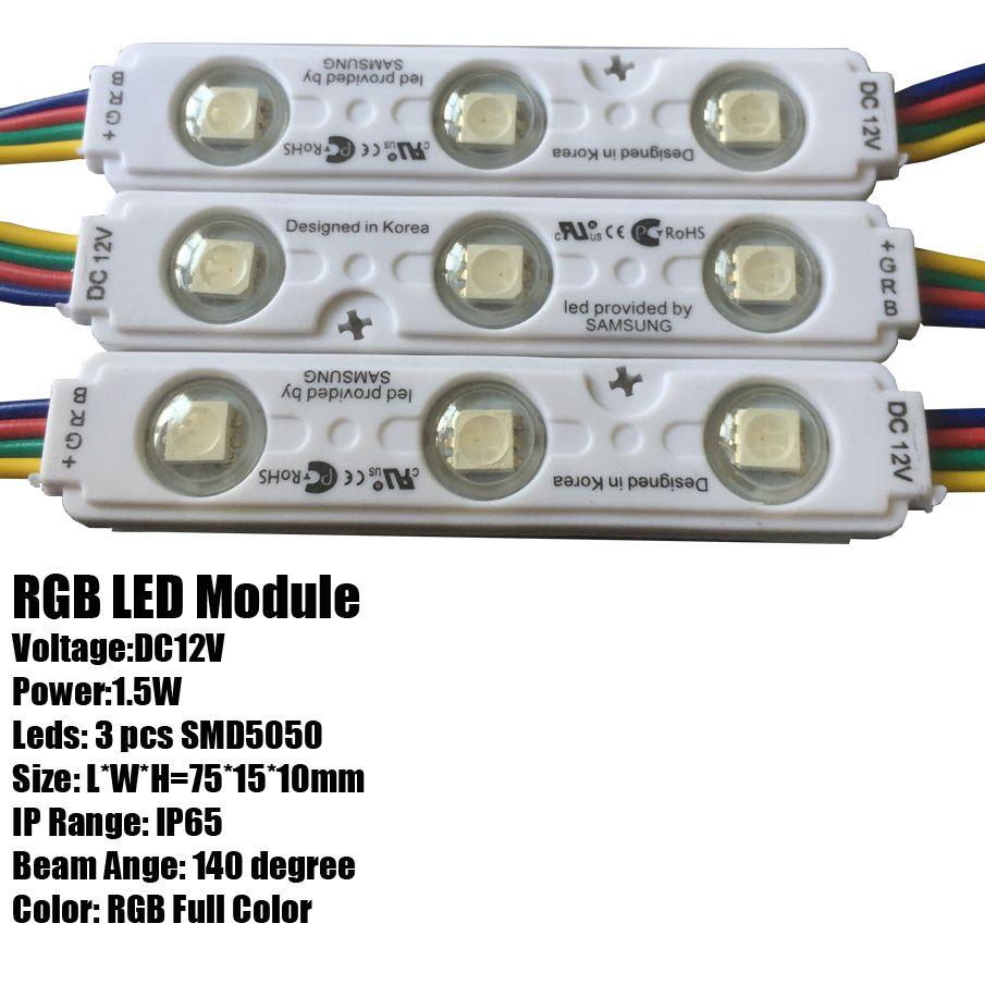 SMD 5630 5730 3 LED MODULI LED LED Store Front Window Led Modulo Light Sign Bar iniezione IP68 Impermeabile Strip Light