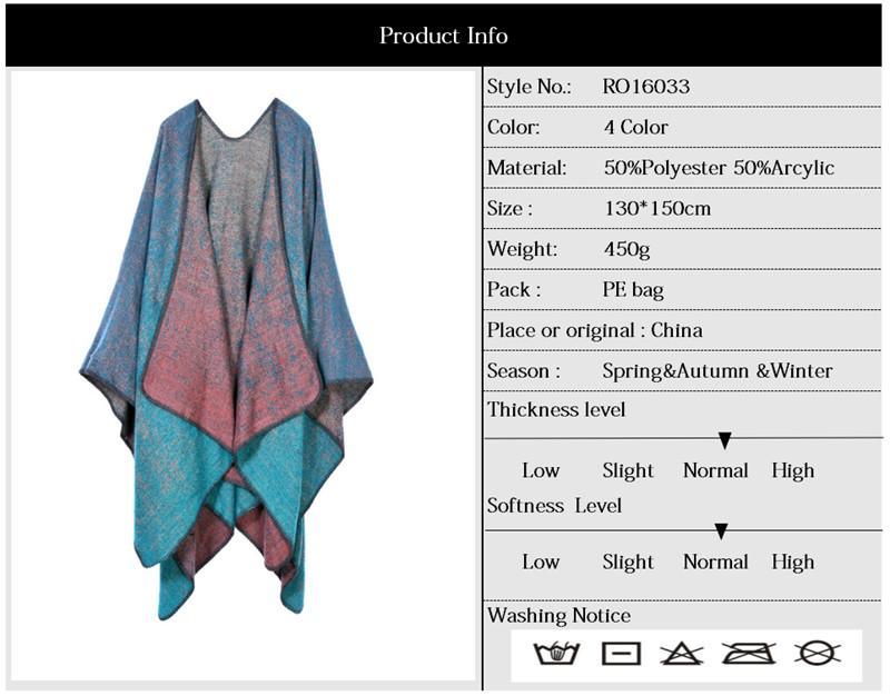 Marca de Moda Xales Mulheres Outono Inverno Manta Quente Cobertor Manto Poncho Capa Brasão Lenço New Arrival RO16033