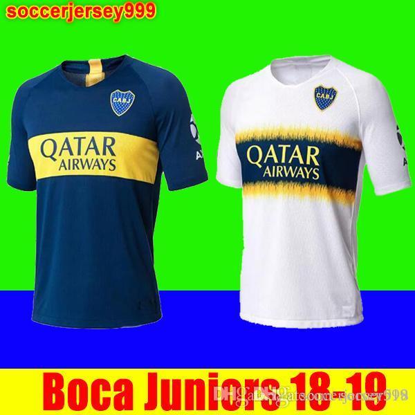 Camiseta De Fútbol De Tailandia 2018 2019 Boca Juniors 18 19 GAGO CARLITOS  HOME AWAY Camisetas De Fútbol Camiseta Uniformes Junior 18 19 Camisetas De  Futbol ... a579bbfa50bdf