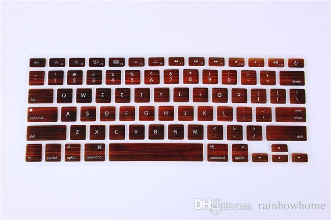 Granite Marble Tree Wood Keyboard Cover Keypad Skin Protector For Apple Mac Macbook Pro 13 15 17 Air 13 Retina 13 US layout