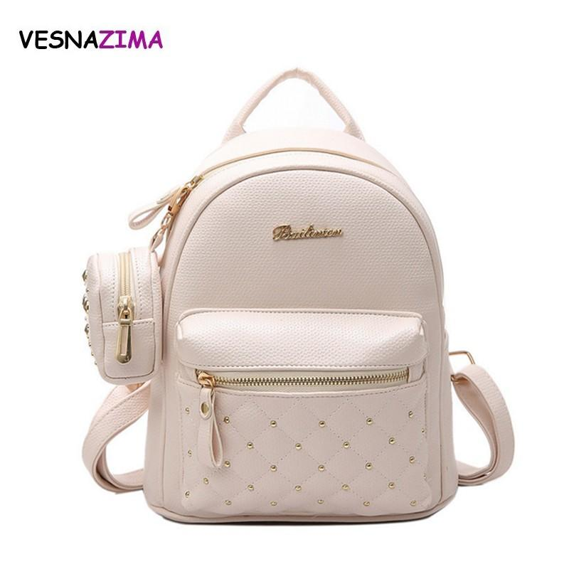 c034c7853a9b Fashion Composite Bag PU Leather Backpack Women Cute School BackpacFor  Teenage Girls Rivet Bags Women S Purse Sac A Dos W627Z Rucksack Jansport  Backpacks ...