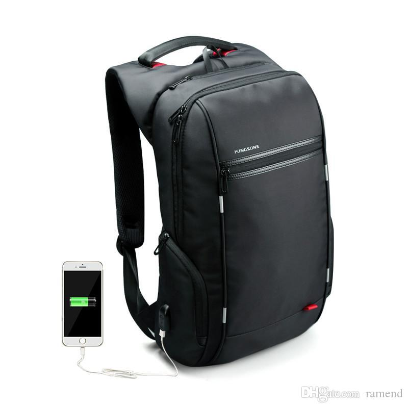 Wholesale 15 17 Inch Women Men Laptop Backpack External USB Functional Computer  Notebook Bag Anti Theft Business Bag Travel Women Backpack Waterproof ... 4e145a008d51b