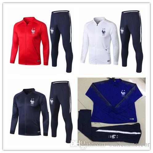 3c2e64450 2018 19 Frances Soccer Jacket Set GRIEZMANN Football Training Suit ...