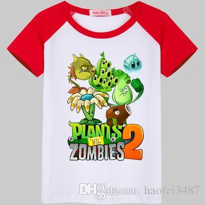 Compre Meninos Plantas Vs Zumbis T Shirt Dos Miúdos Básicos T Camisas Dos  Desenhos Animados Cactus Top Tees Crianças Esporte Vestuário Bebê Menino  Projeto ... 7d85ba416bd08