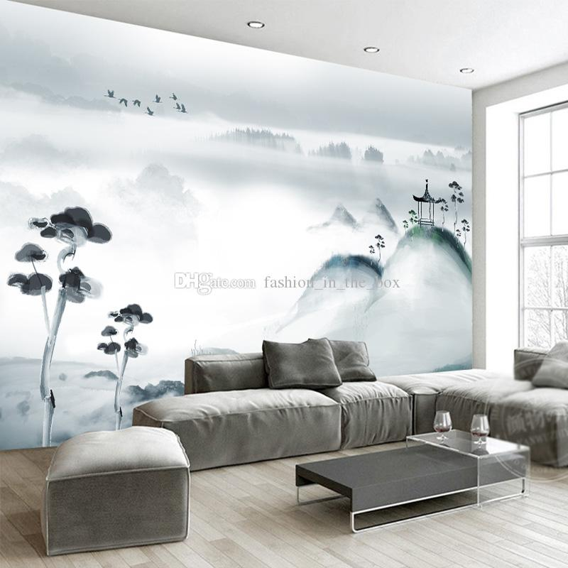 Chinese Ink Painting Wallpaper Custom Wall Mural 3d Wallpaper