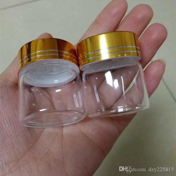 48 x 20 ml bouteilles en verre clair flacons avec couleur or spirale bouchon en métal mariage bonbonnière de stockage pot 37x40mm