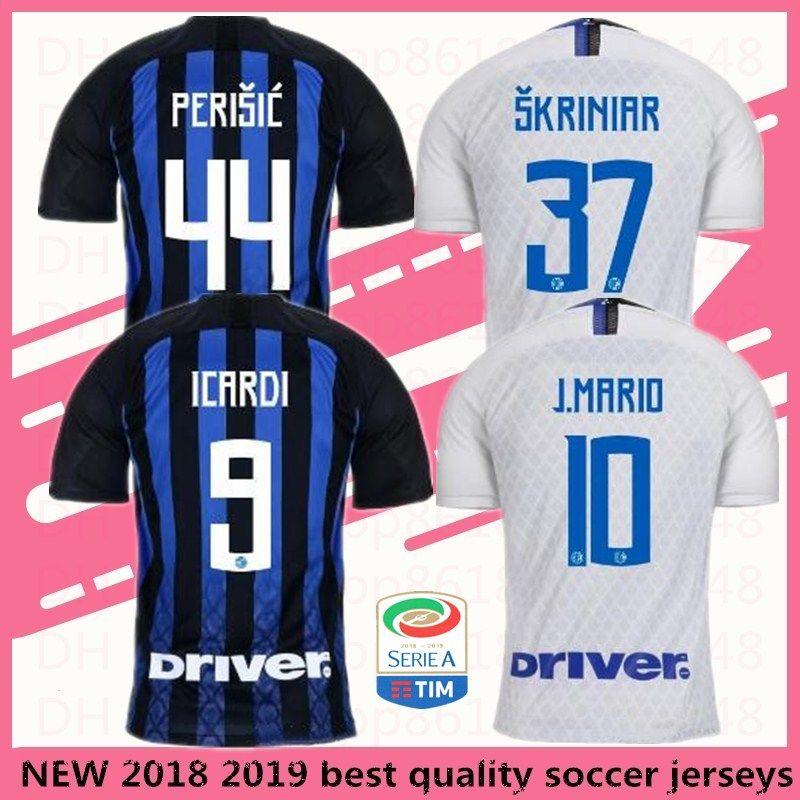 ce2521f7c ... netherlands inter milan soccer jersey icardi football uniform 2018 2019  home blue rafinha j.mario