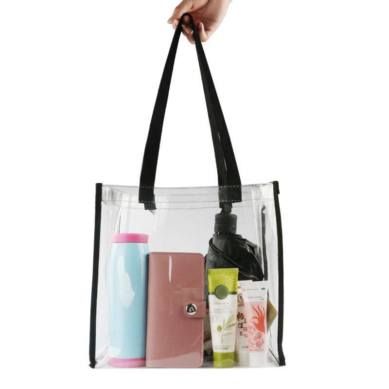 ccbfbe6226 Best 2018 New Large Capacity Ladies Tote Bag Pvc Women Handbag Shoulder Bags  Fashion Transparent Beach Shopper Bag Bolsas 2b0130 Under  24.46