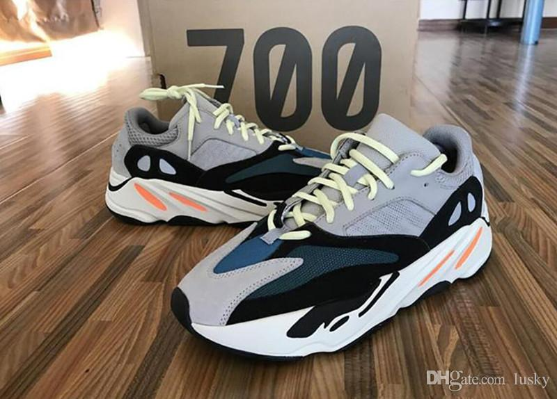 new arrival 94e32 554b9 18 Discount Kanye West 700 Boost Best Quality Classic Running Shoes With  Wave Runner 700 Boosts Sports Shoes Fashion Sneaker Size US7-US12