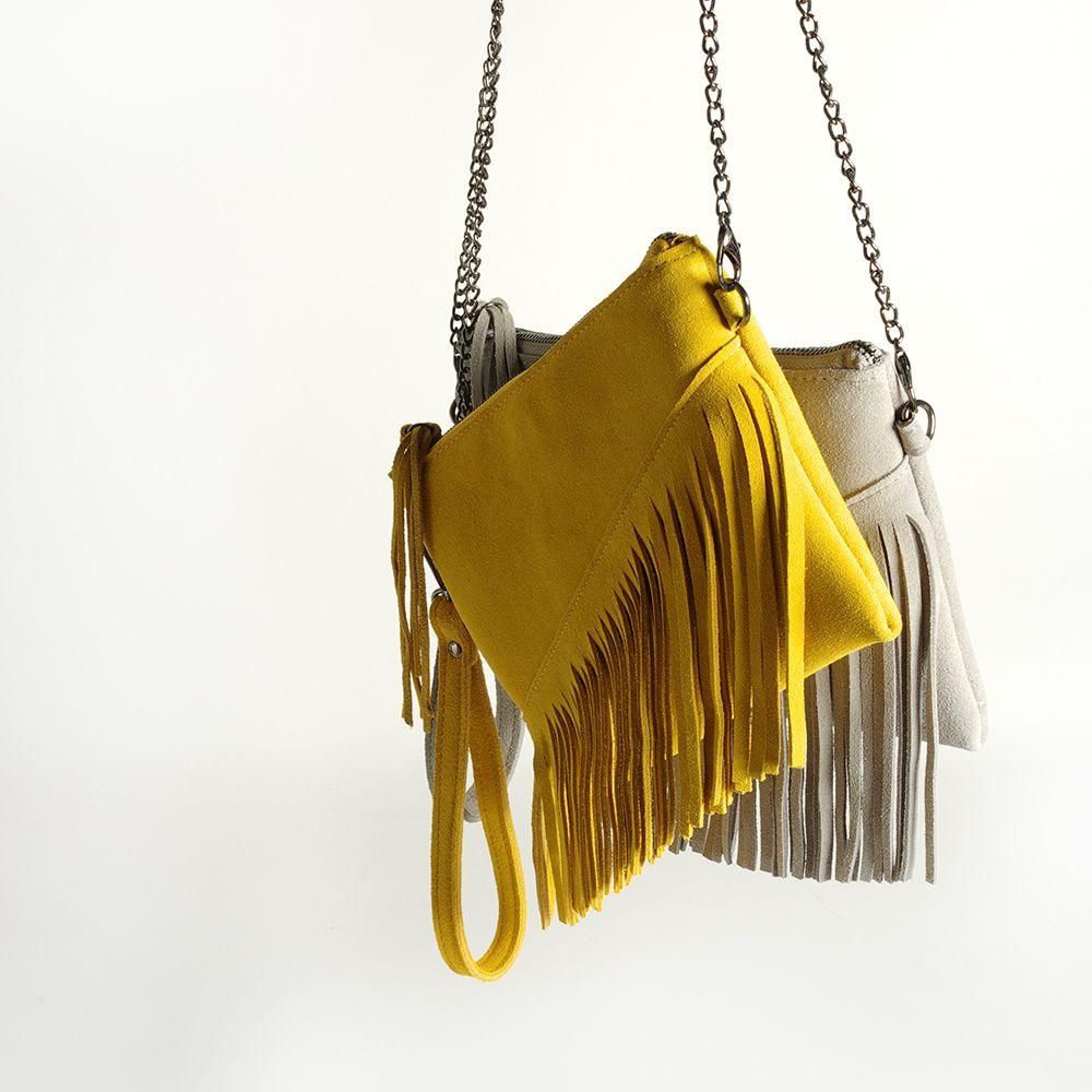 6db6baec6a New 2018 Genuine Leather Shoulder Bag For Women Fashion Feminine Summer  Small Suede Tassel Fringe Chain Yellow And Gray Hand Bag Fiorelli Handbags  Discount ...