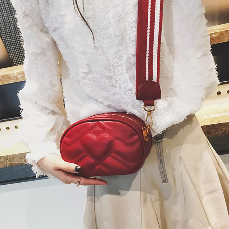 Trend 2018 Fashion Vintage Love Red Women S Bag High Quality PU Leather  Black Women Leather Handbags Lady S Bag Womens  Pouch Leather Purse Womens  Purses ... 1a5645541d214