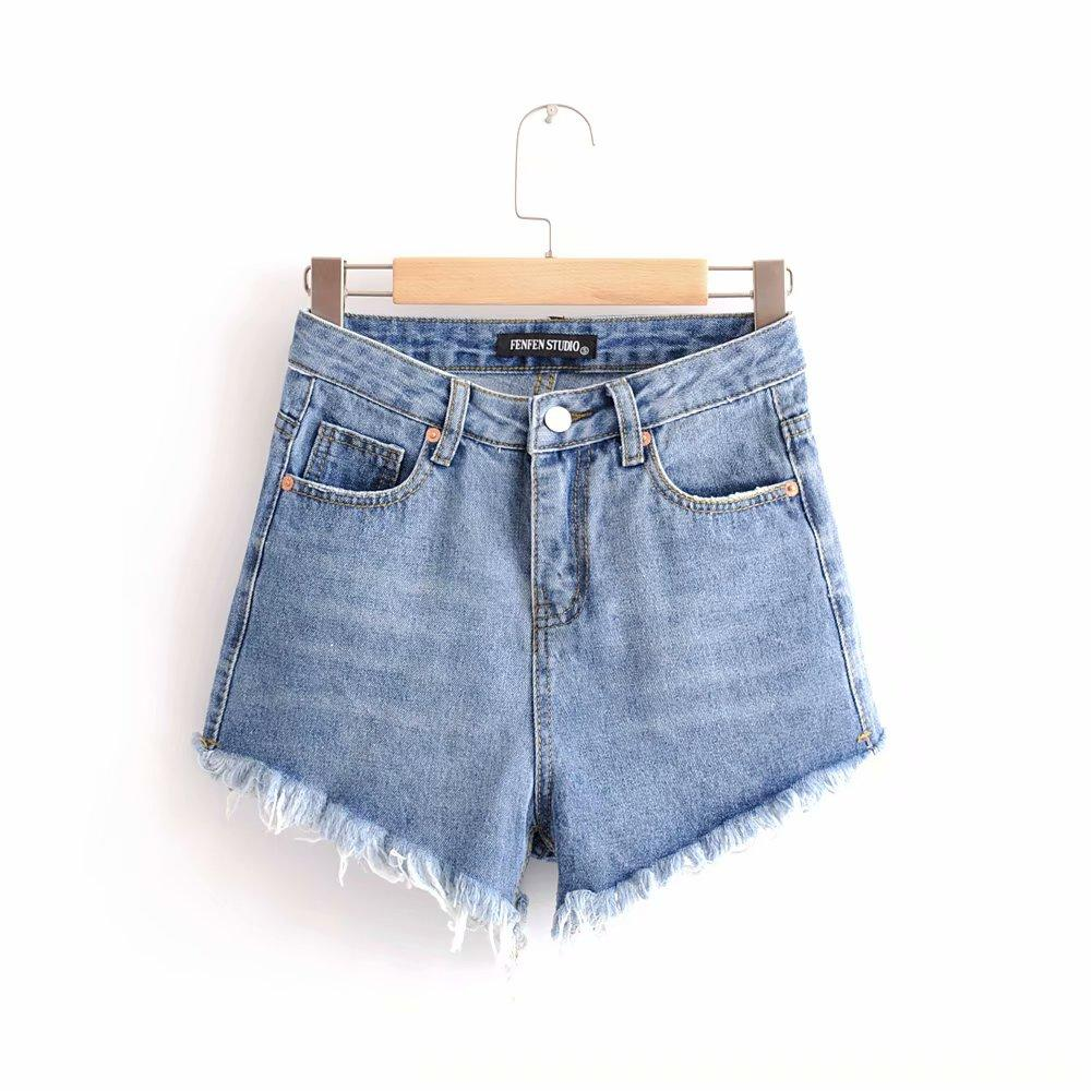 aa4b831a83 2019 Summer New Arrival Women Fashion High Waist Slim Frayed Edge Denim  Shorts, Female Quality Vintage Casual Hot Pants Short Jeans From Luweiha,  ...
