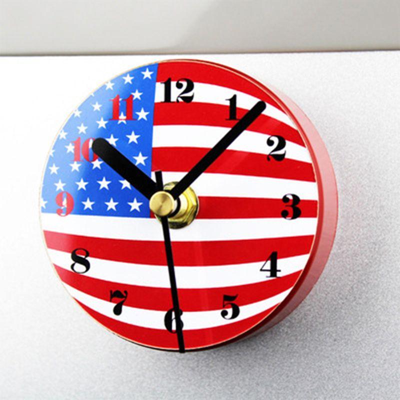 Flag Fridge Magnet Clock Creative Usauk Flag Magnetic Clock