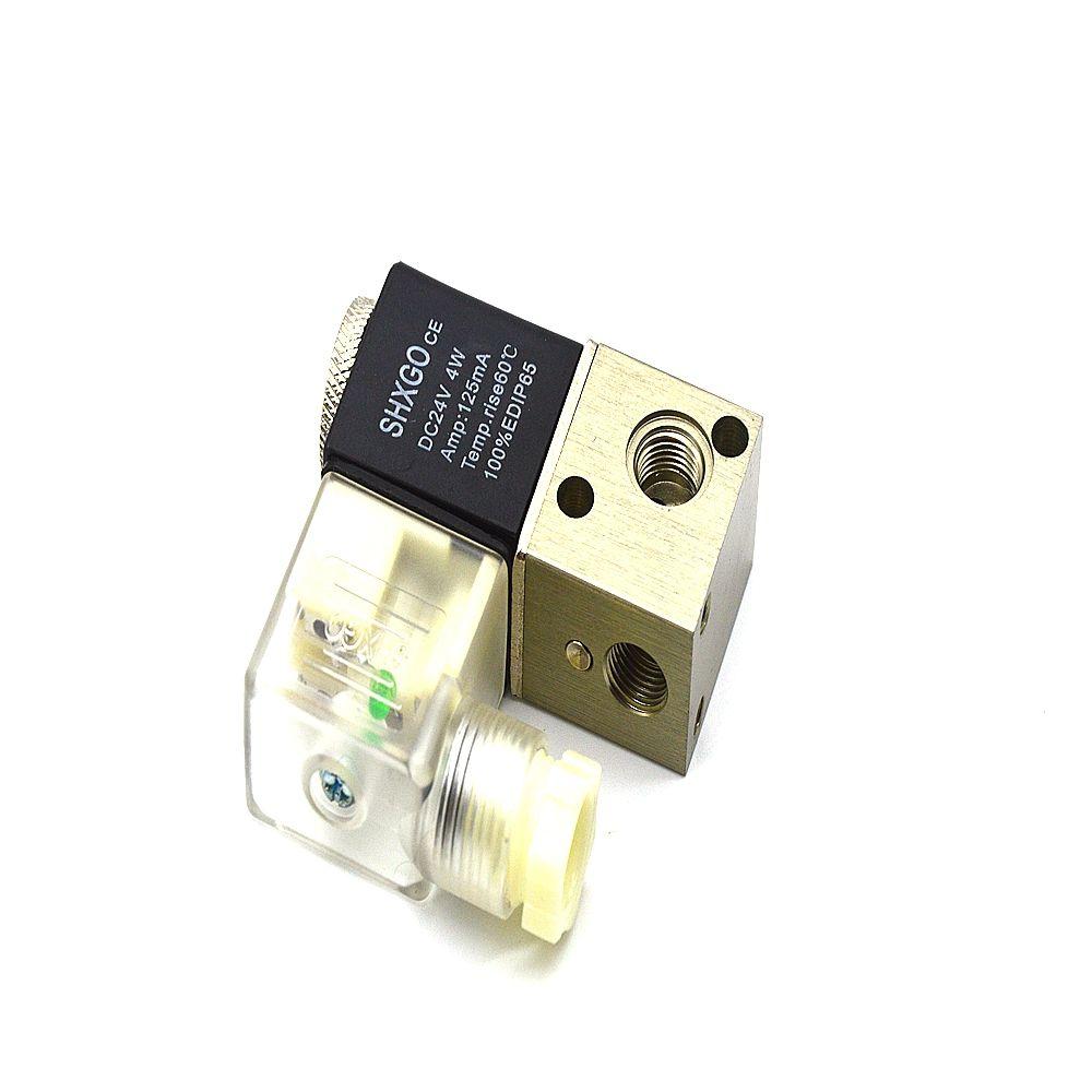 3V1-06 DC24V 4W 125MA 2-posição válvula pneumática solenóide eletromagnética de 3 vias G1 / 8