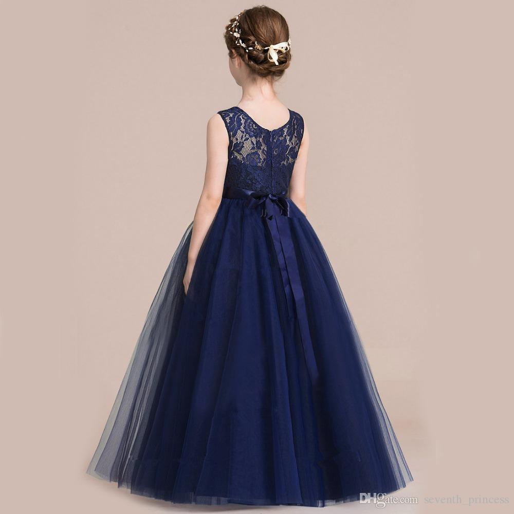 Großhandel Baby Mädchen Hochzeit Kleid Teenager Mädchen Party Kleid ...
