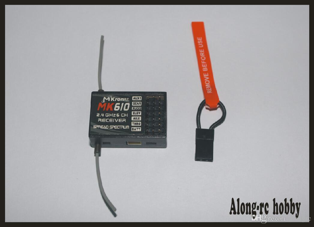 free shipping RC airplane Part MK610( as ar6100) 2 4G 6CH RC Receiver Bind  Plug DSM-2 fit JR DX6i DX7 DX8 Transmitter