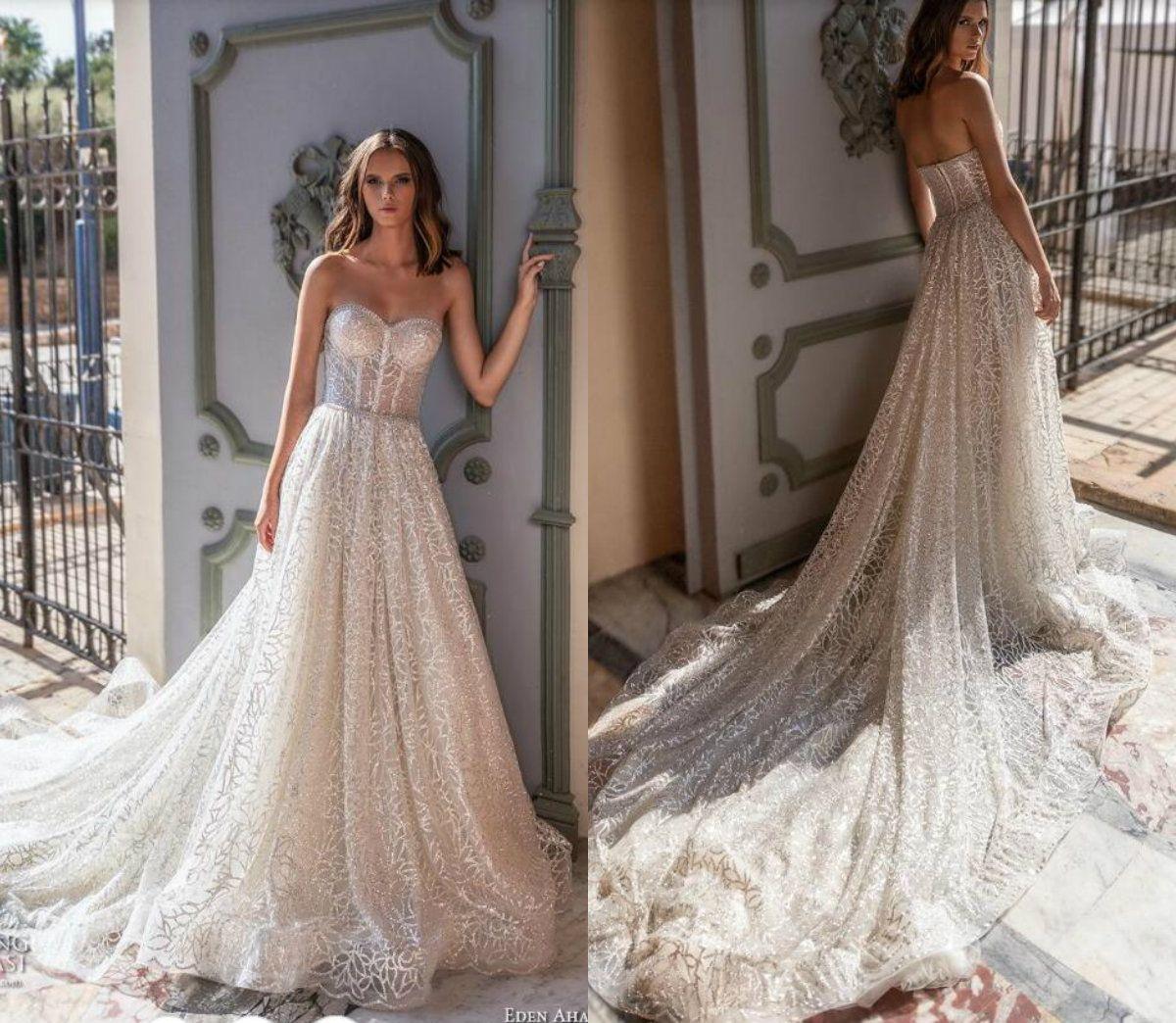 Beach Wedding Dress with Bling