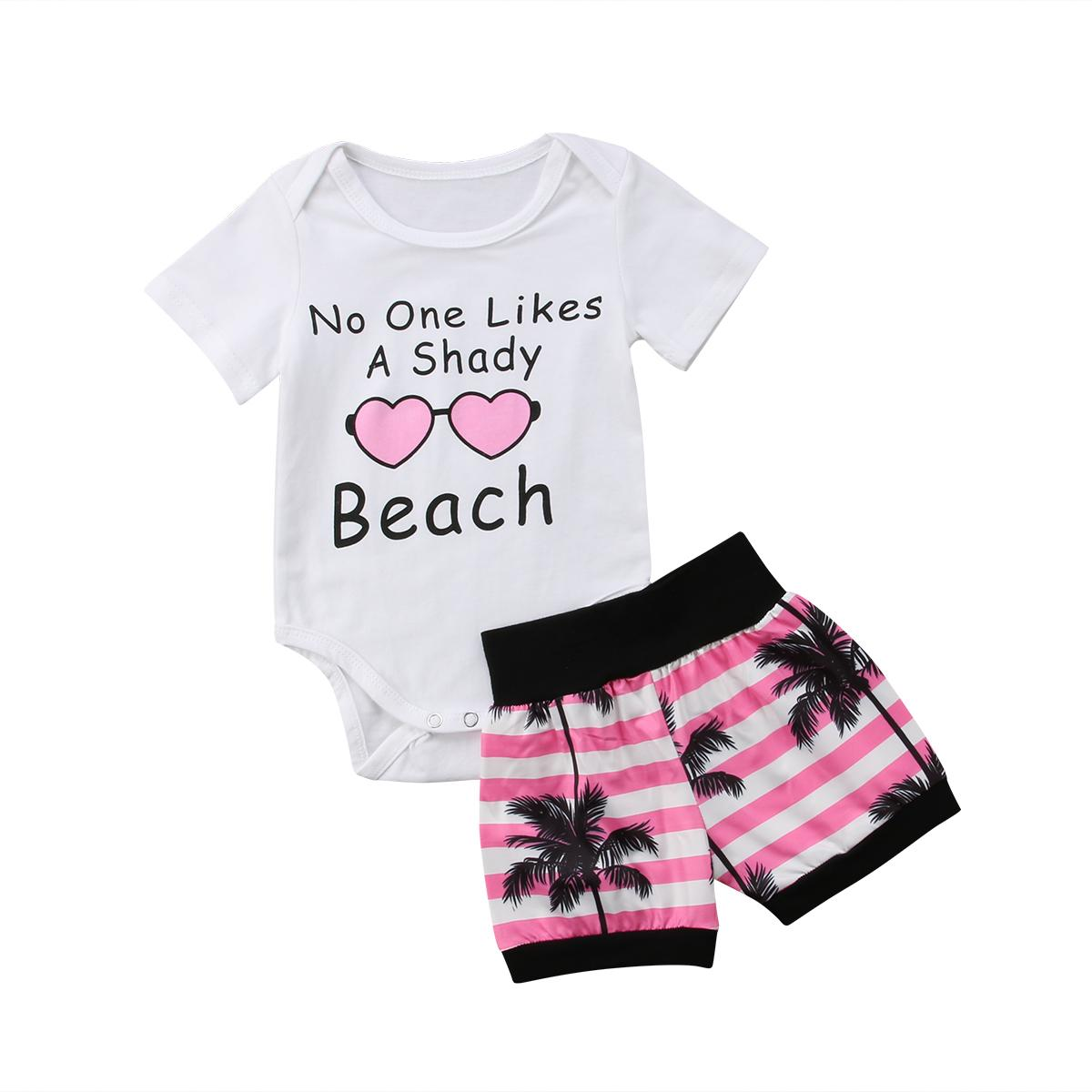 4f381986 2019 Newborn Baby Boy Girl Hawaii Tops T Shirt Pants Shorts Outfits Clothes  Set From Sightly, $35.66   DHgate.Com