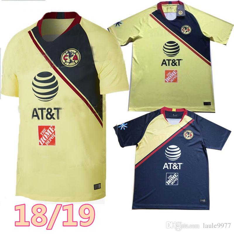 af11c4357b957 NOVEDADES Llegadas NUEVAS Camisetas De Fútbol Del Club America De LIGA MX  De Calidad Superior A Domicilio Tercer Amarillo Verde 18 19 Camisetas  O.Peralta ...