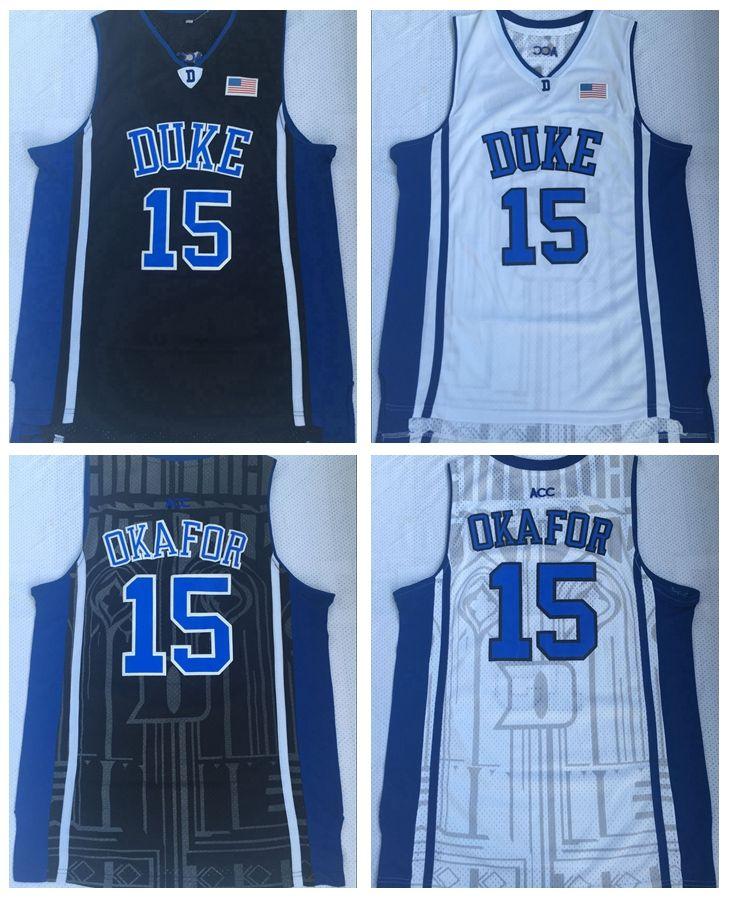 2019 Mens Duke Blue Devils 15 Jahlil Okafor College Basketball Jersey Cheap  Black 15 Jahlil Okafor Stitched Basketball Shirts From Redtradesport c9a3546ce