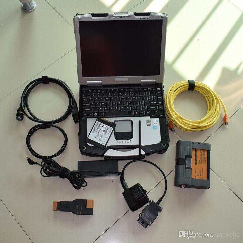 serviço de diagnóstico do carro do sistema diagnóstico para bmw icom a2 com 480GB SSD com ram4 laptop CF30 pronto para usar