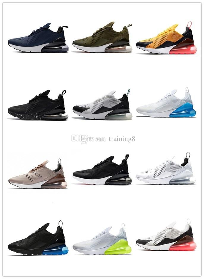 3b52700924d 2018 New 270 Air Cushion Men And Women Running Shoes high quality Triple  White Black Cheap 270c Trainer Sports shoes Size 36-46