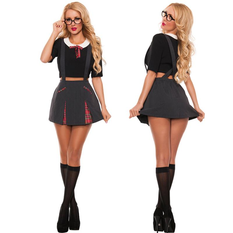bb11bd9e4 Compre Secretária Sexy Traje Impertinente Hen Partido Professor Fancy Dress  Outfit De Paluo