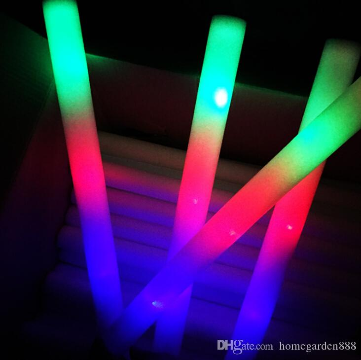 Multi Colorful 7 Modes LED Flashing Night Light Lamp Glow Wand Sticks + strap Birthday Christmas Party festival Camp Free Shipping