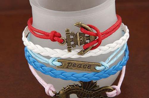 팔찌 여성 남성 패션 수제 보석 통계 보헤미안 랩 팔찌 스냅 뱀 연인 가죽 Pulseras 무한대 팔찌