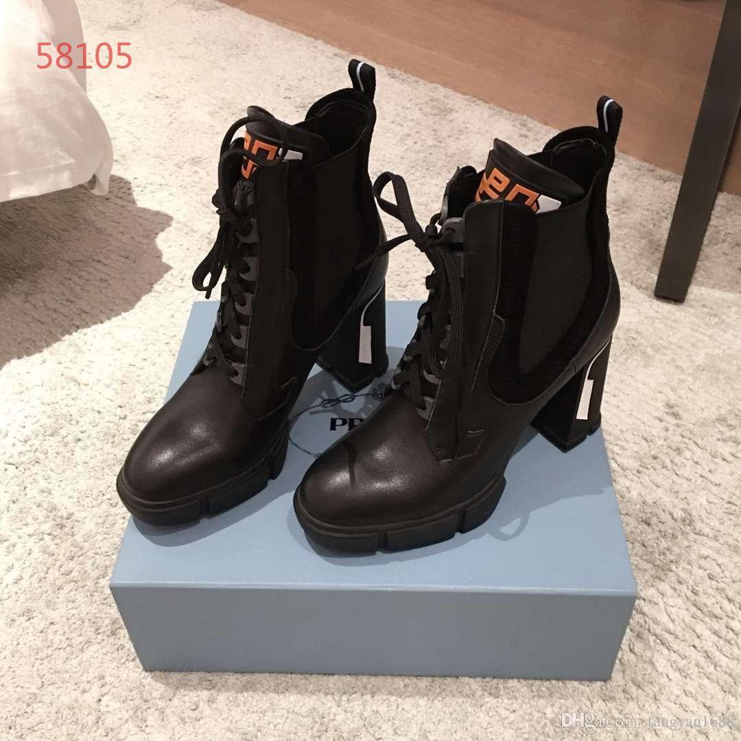 915f5e9efc9 Compre Marca De Lujo De Gama Alta Para Mujer Botas De Cuero Real Tacones  Altos Personalidad De Moda Top Qulity Zapatos De Mujer 35 39 A  128.65 Del  ...