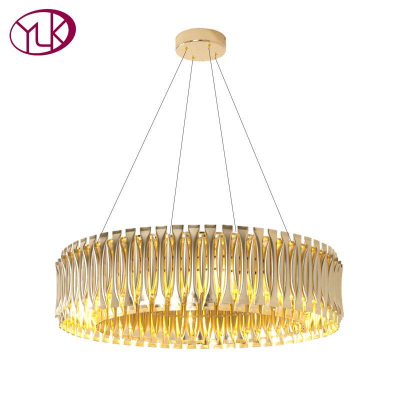 Großhandel Youlaike Neue Moderne Kronleuchter Beleuchtung Dekoration Gold  Hängeleuchten Wohnzimmer Esszimmer Ring Led Lampen Von Haleylighting, ...